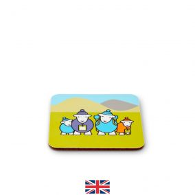Hiker Family Melamine Coaster