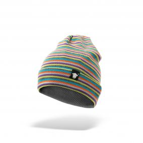 Multi-Coloured Striped Beanie
