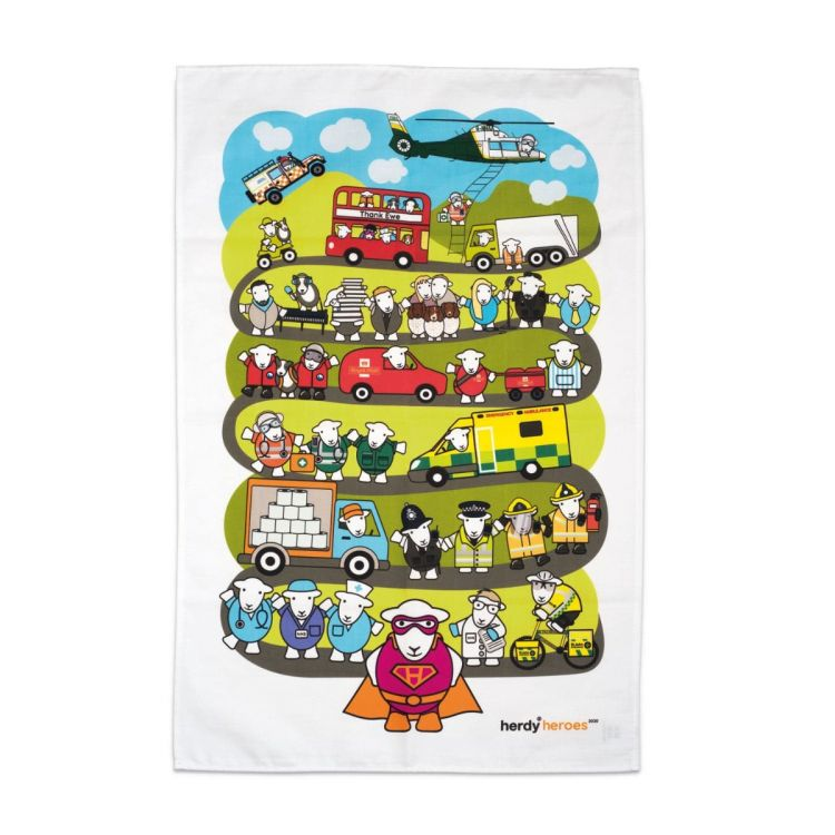 Herdy Heroes Tea Towel