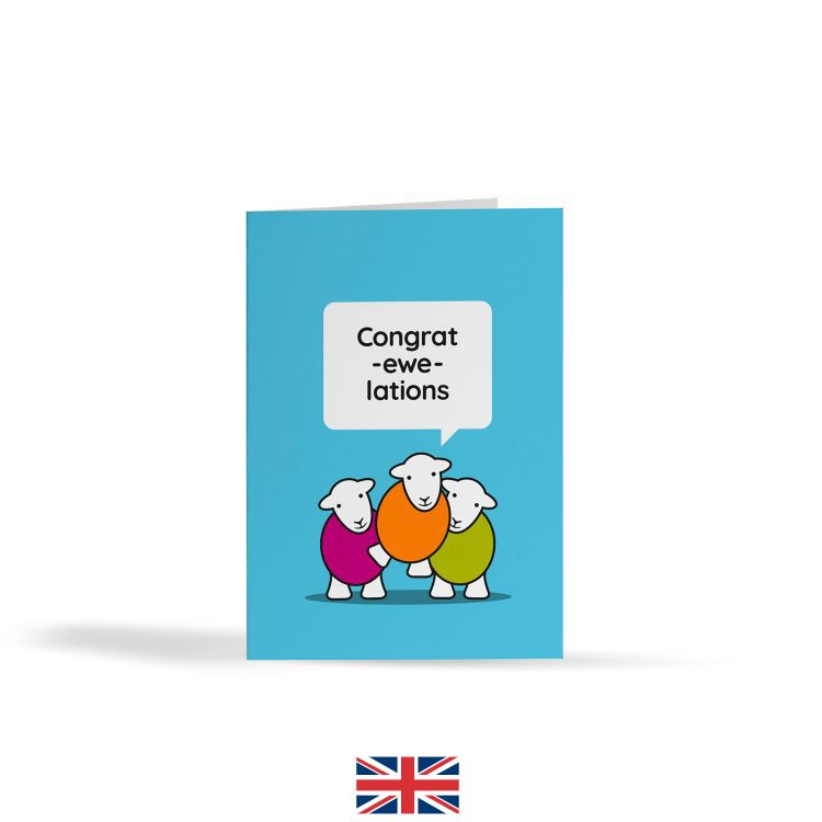 Congrat-Ewe-Lations Card