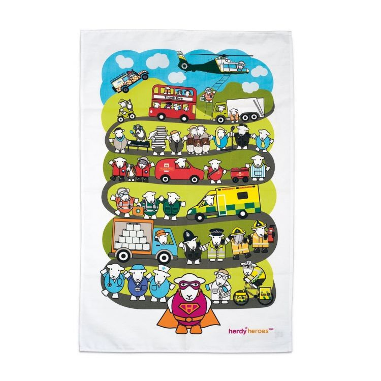 Herdy Heroes Tea Towel