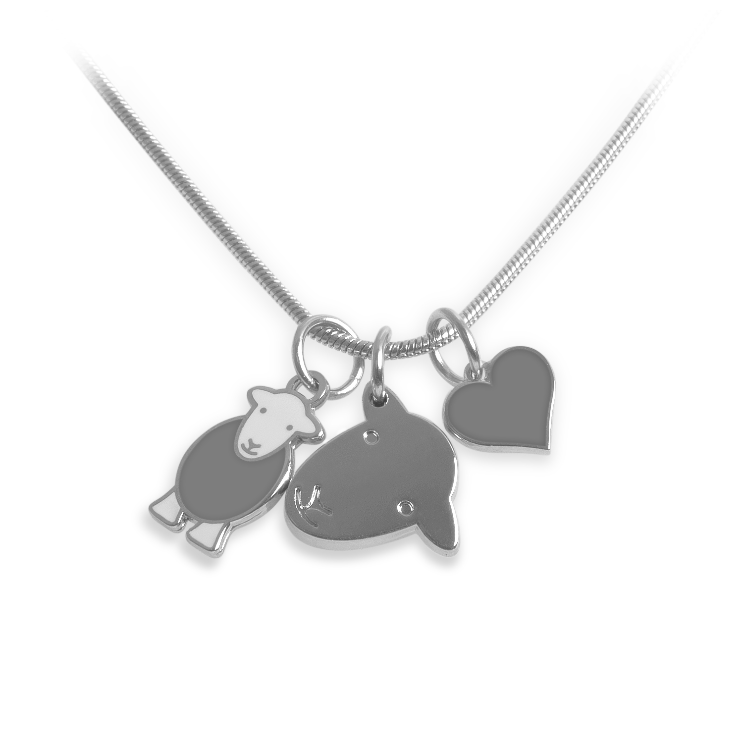 Charm Necklace - Grey