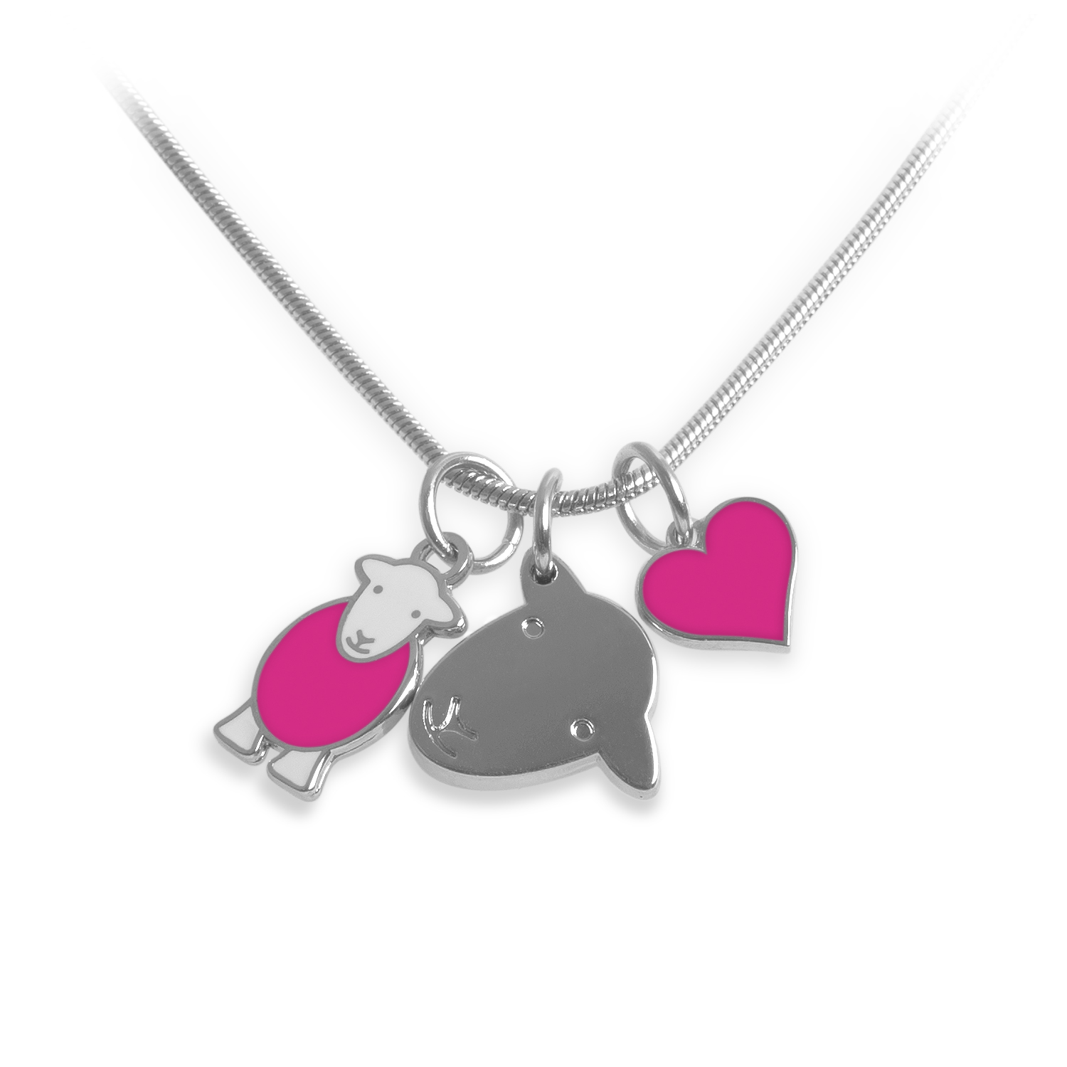 Charm Necklace - Pink