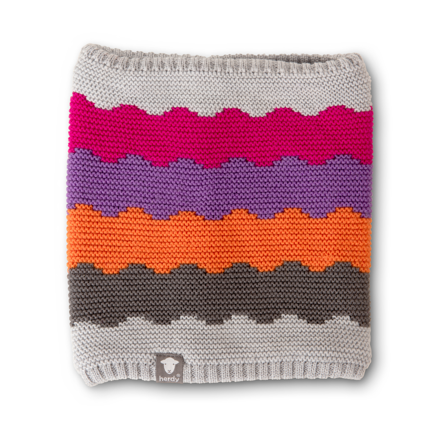 Wave Neck Warmer - Pink And Purple