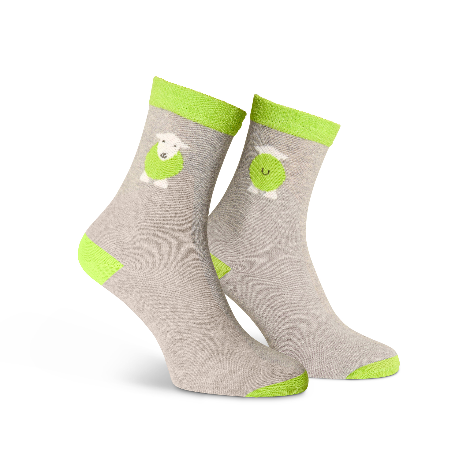 Kids Yan Socks - Green - Size 9-12 (27-30)