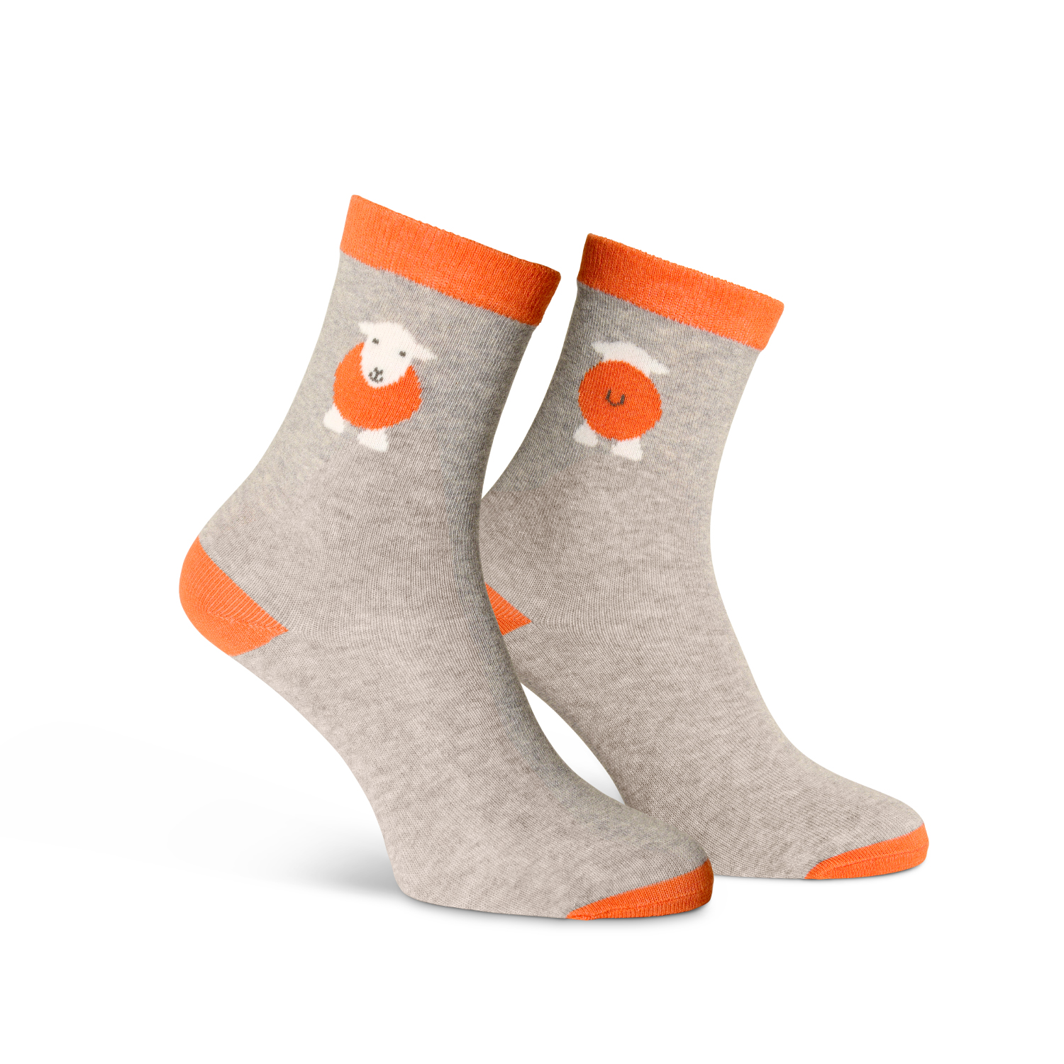 Kids Yan Socks - Orange - Size 9-12 (27-30)