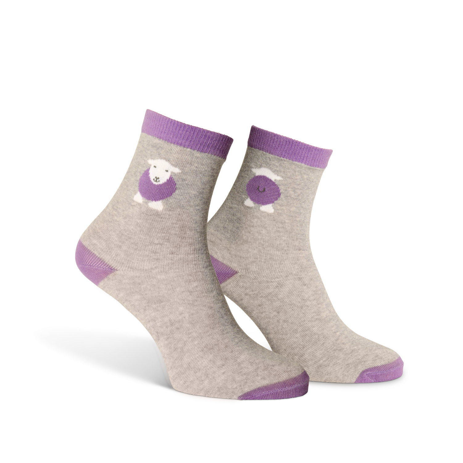 Kids Yan Socks - Purple - Size 9-12 (27-30)