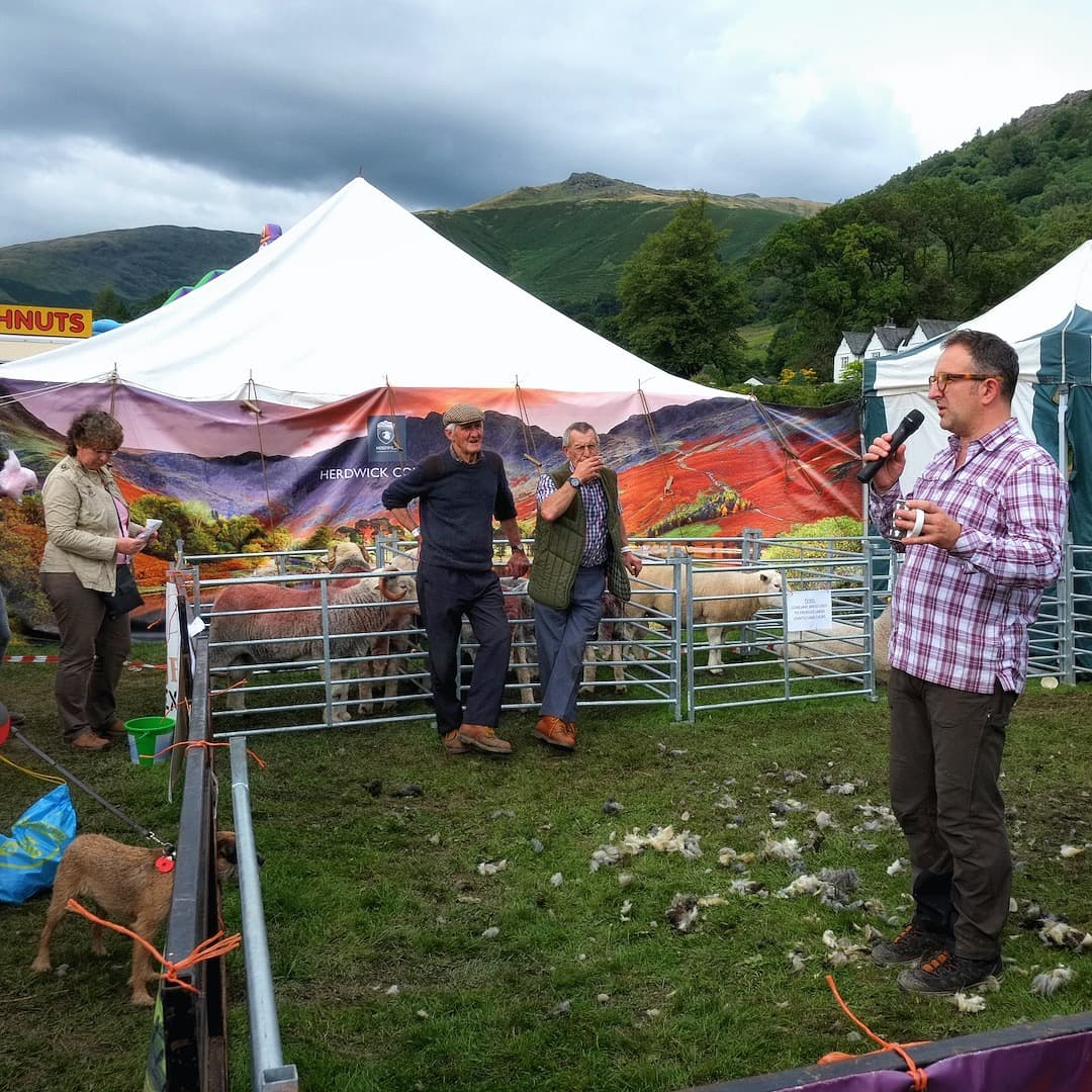 Herdy co-founder, Spencer Hannah, explaining Herdy and the creation of the Herdwick Brand Mark