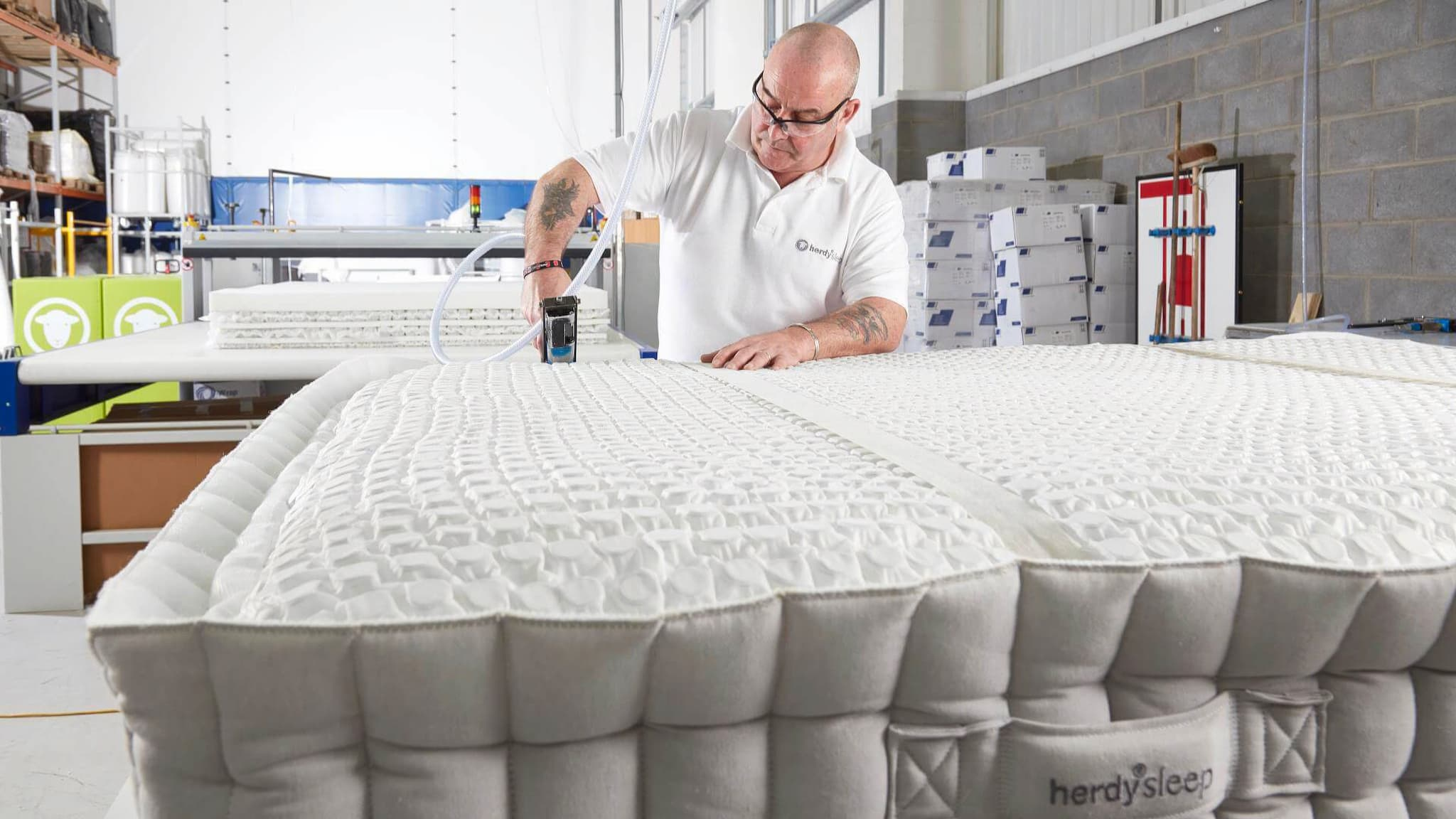 The borders of the mattress are attached to the core