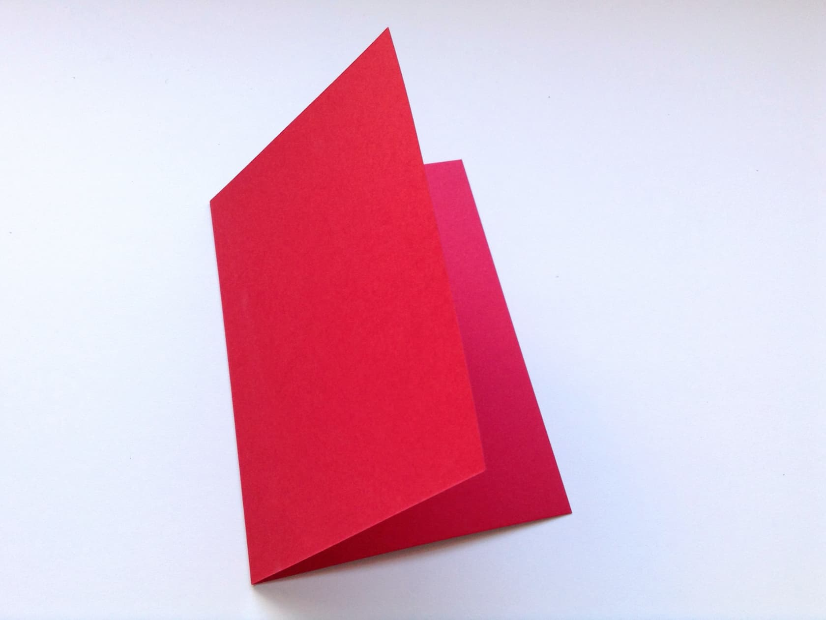 Fold the red card in half