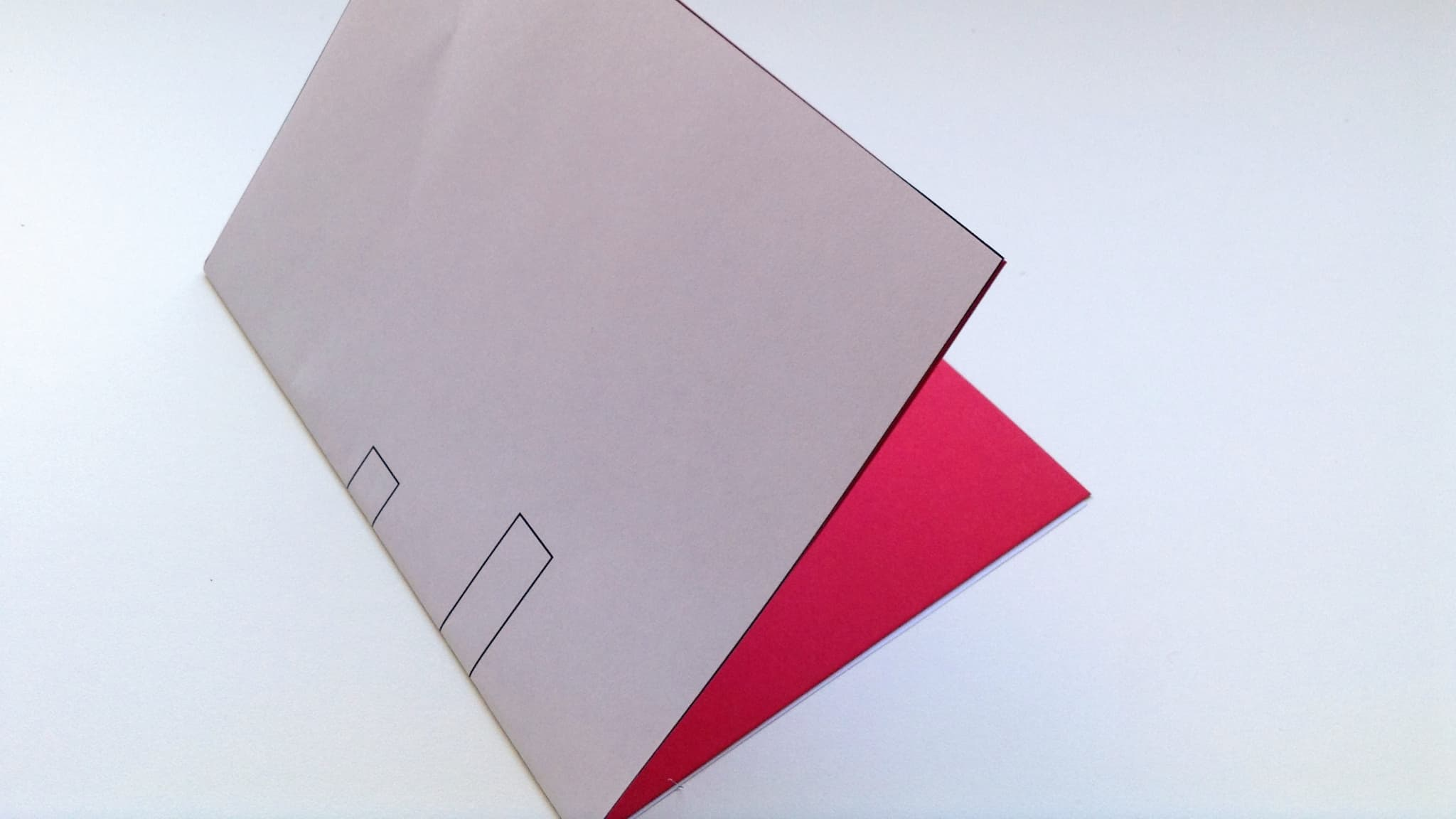 Place the card template behind your red Valentine's card