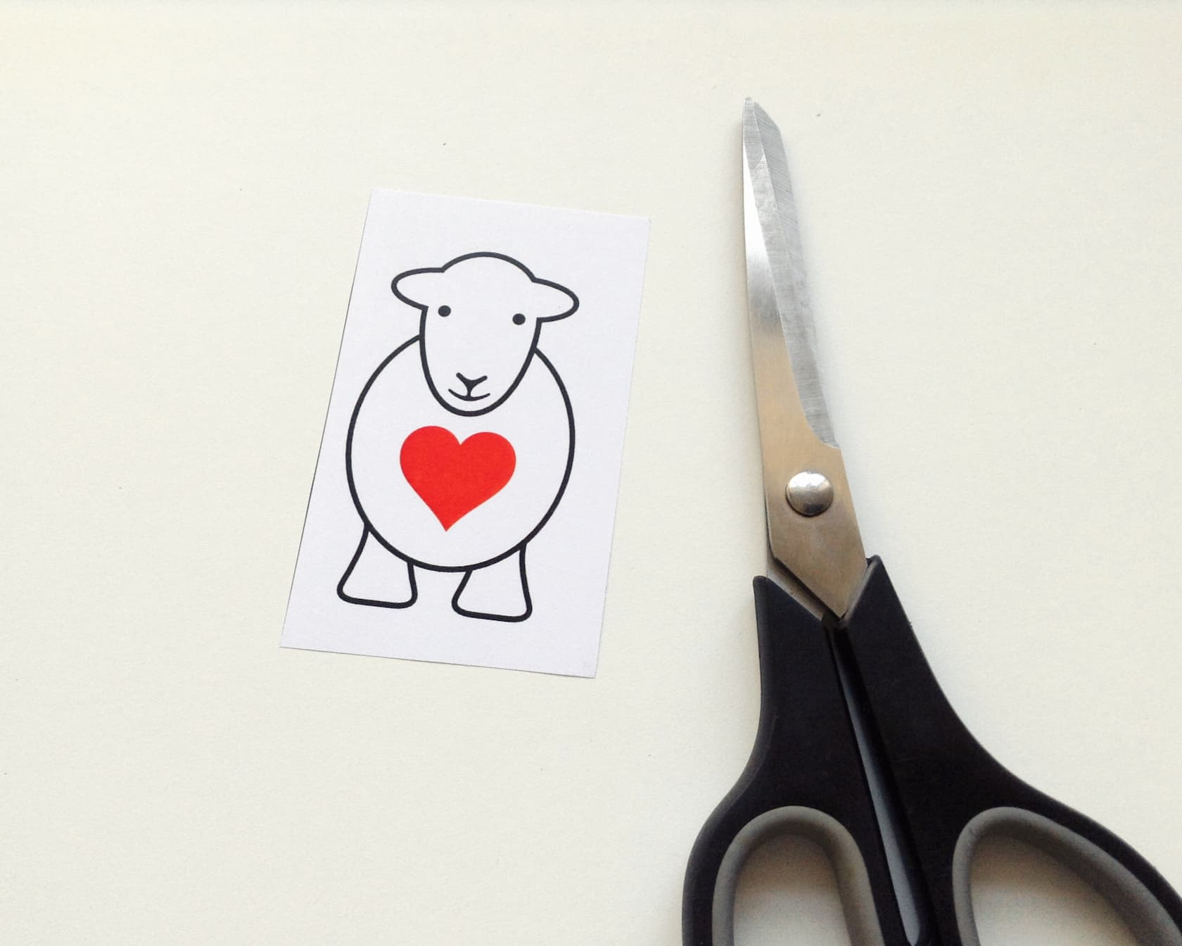 Cut around the Herdy Love Ewe Yan template