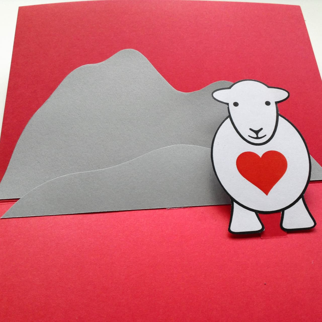 Your Herdy Love Ewe Valentine's Card is complete