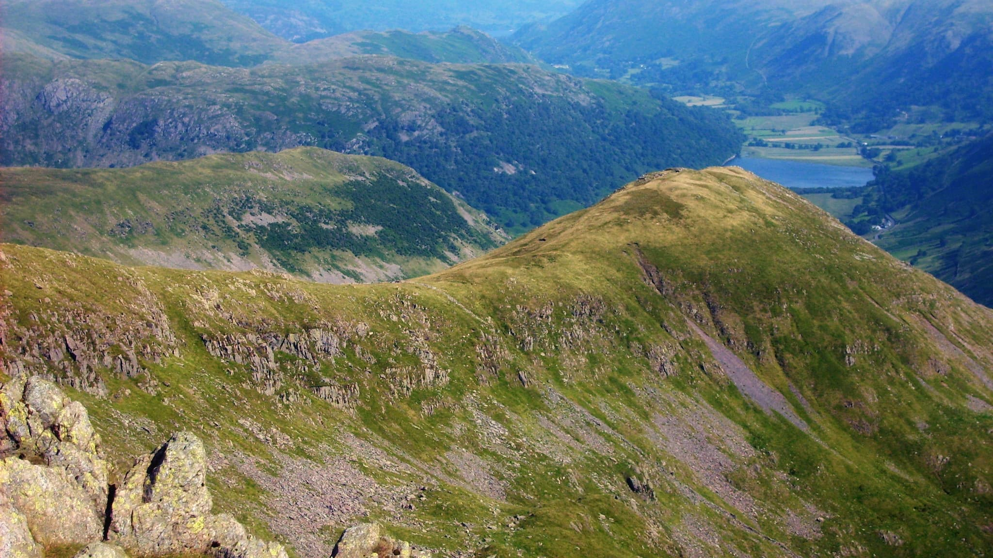 """Middle Dodd from the summit of Red Screes"" by Shane Sykes, licensed CC-by-SA-3.0"