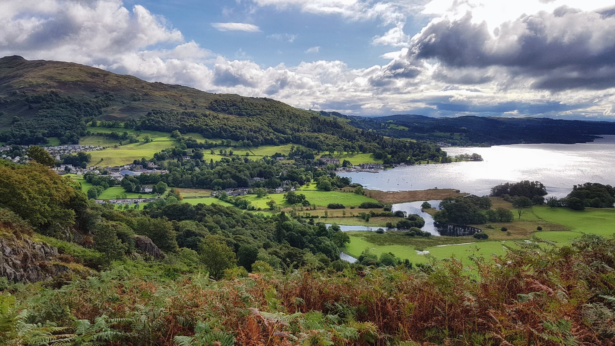 Head up Nanny's Brow to hike around Loughrigg, one of the more popular autumn walks