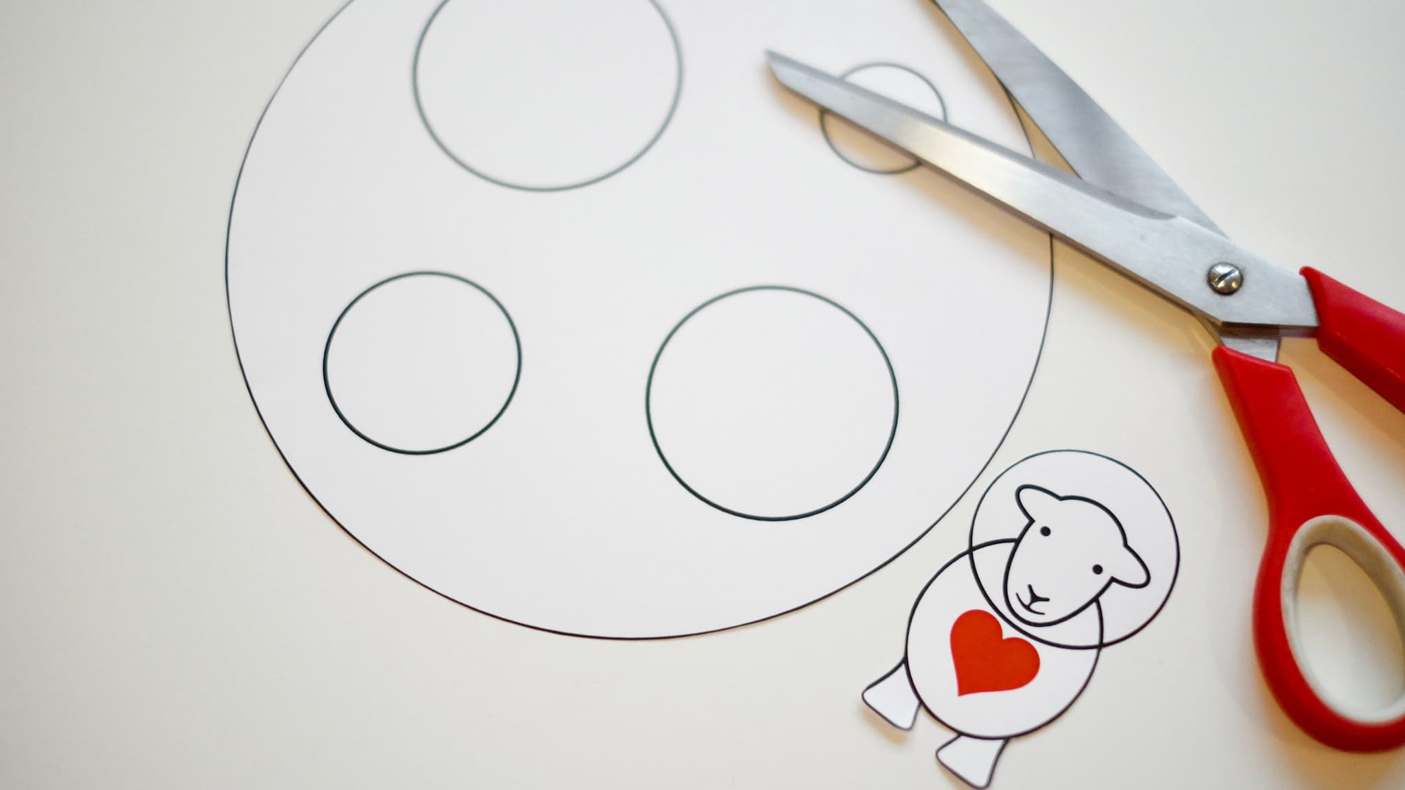 Download our free cutting template to make your own handmade Valentine's Day card