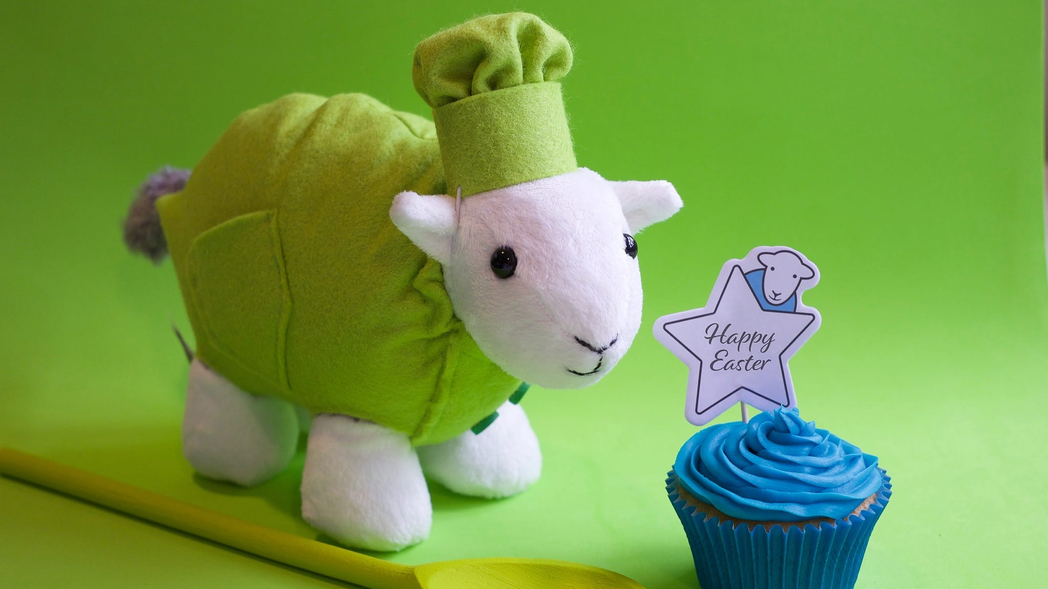 How to make Herdy-themed Easter cupcakes
