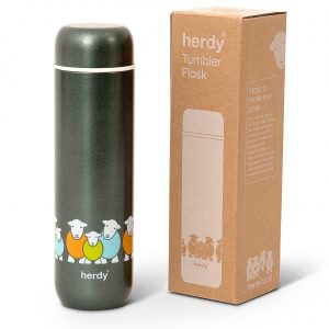 Now you can take Herdy with you on all your outdoor adventures! This double walled stainless steel vacuum flask is a neat and simple design. It remains safe to touch with extremely hot or cold drinks and has excellent temperature retention.