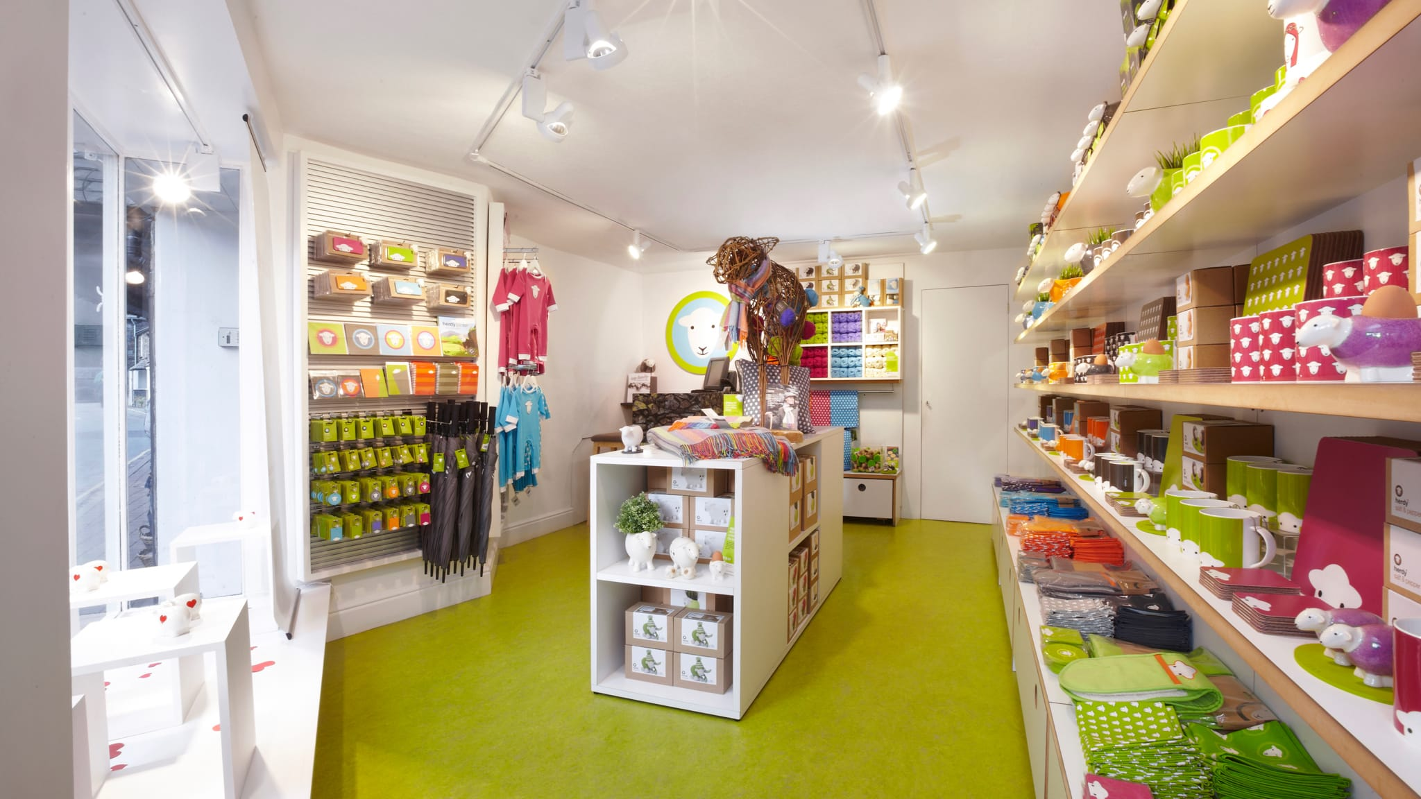 Inside the colourful Grasmere Herdy shop