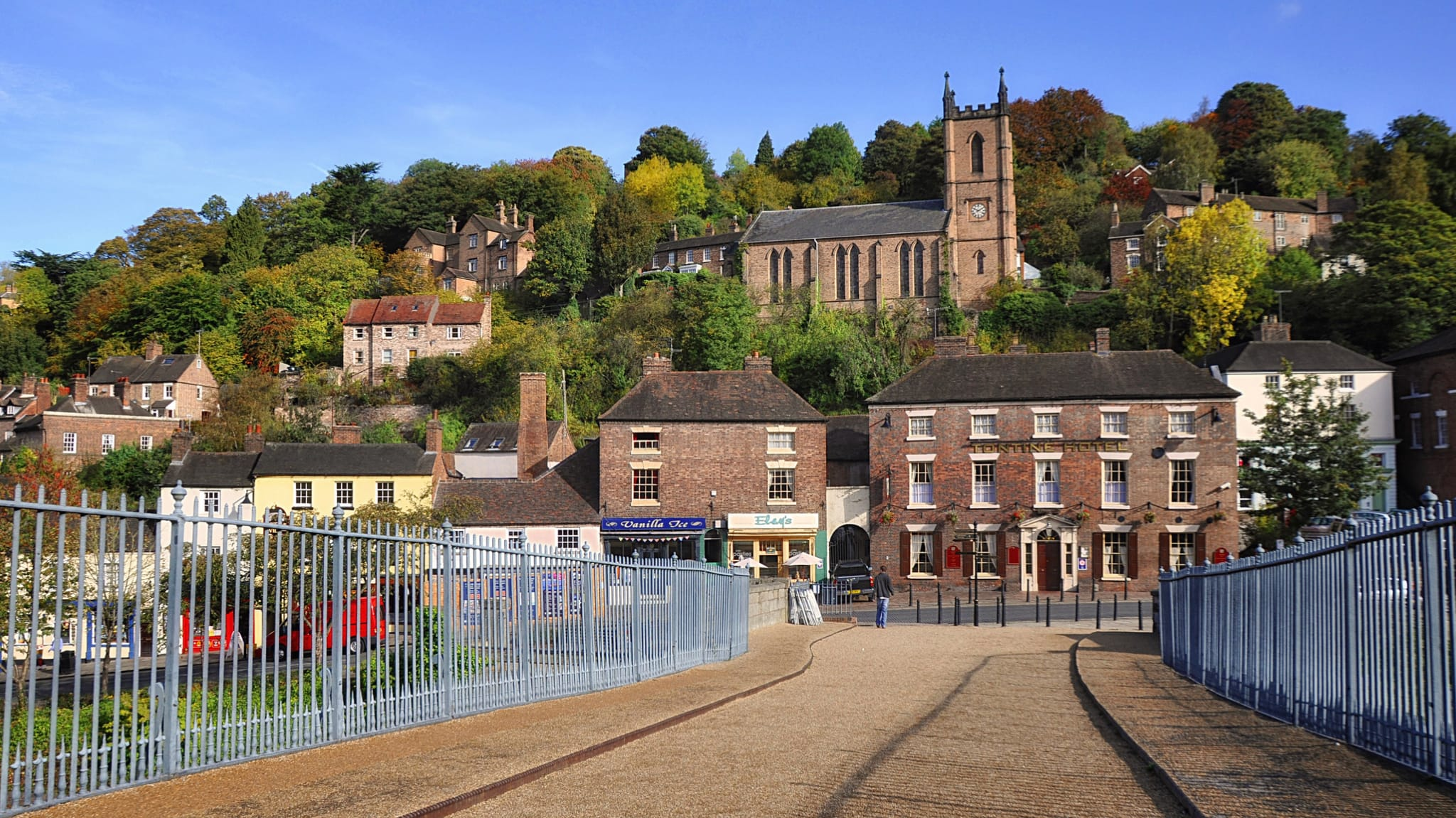 The beautiful town of Ironbridge in Shropshire, UK. Photo by Helen Simonsson, licensed CC-BY-SA-3.0.