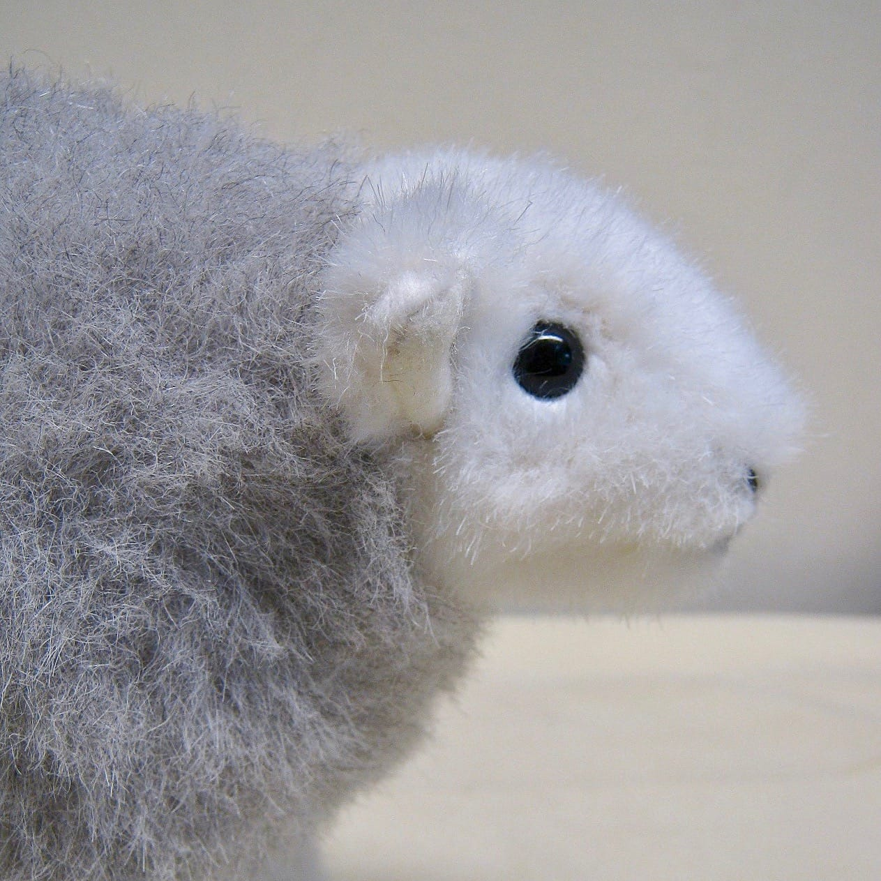 Closer view of the face of the first My Herdy prototype
