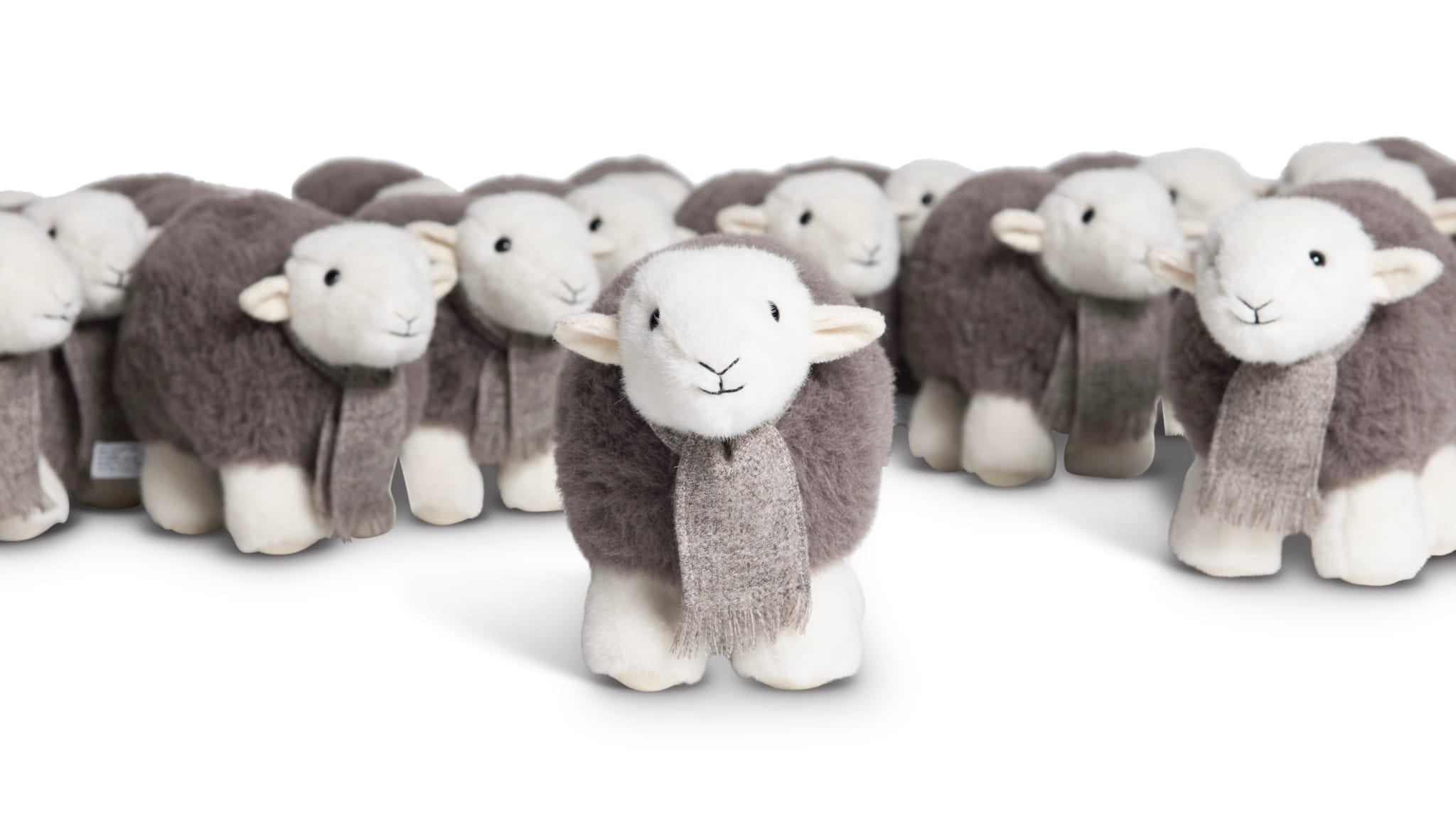 Launch photo of the original My Herdy limited edition, made by Merrythought