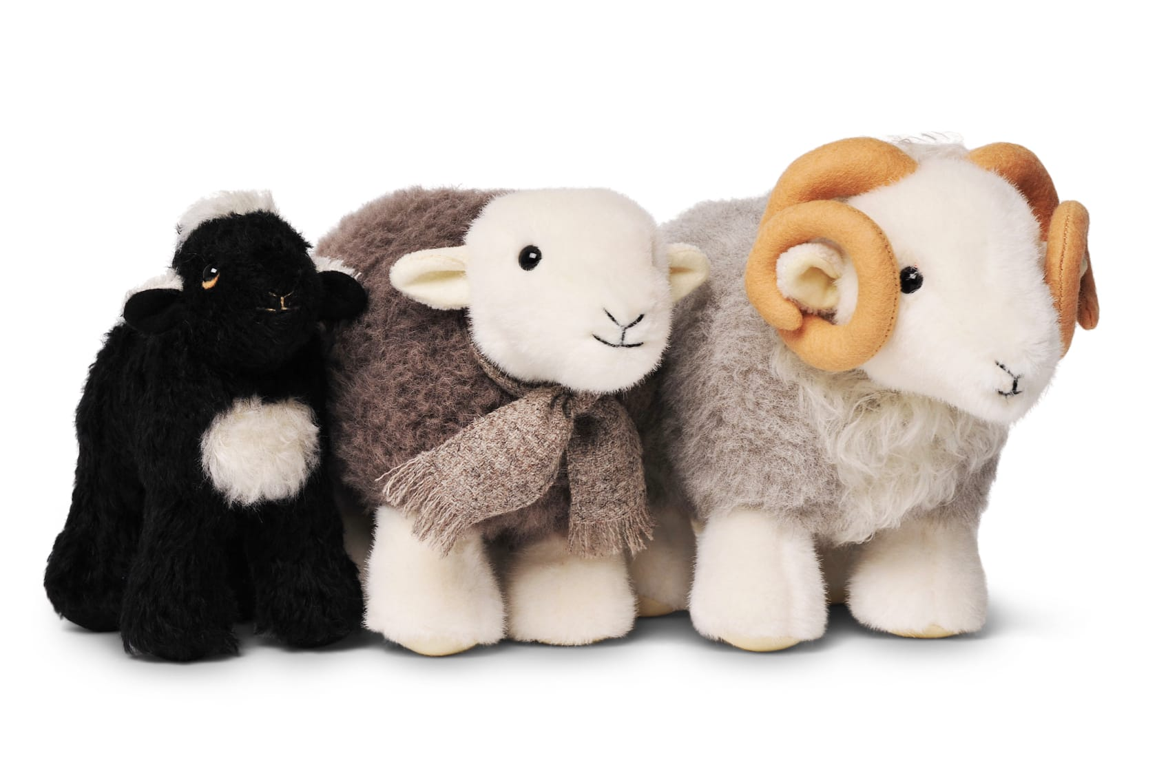 The original three My Herdys: original My Herdy, My Herdy Lamb, and My Herdy Tup