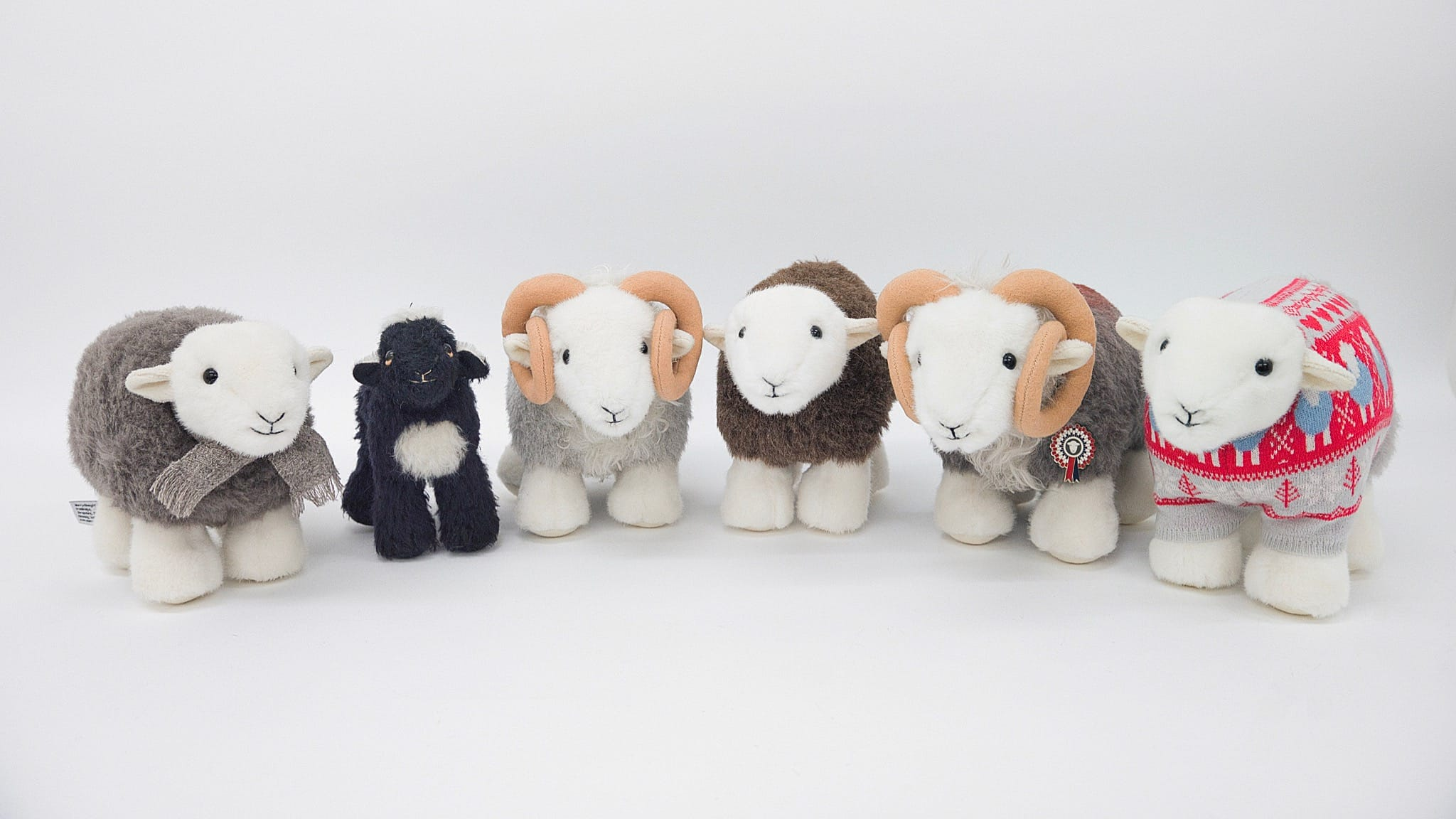 All six My Herdy and Merrythought soft toys