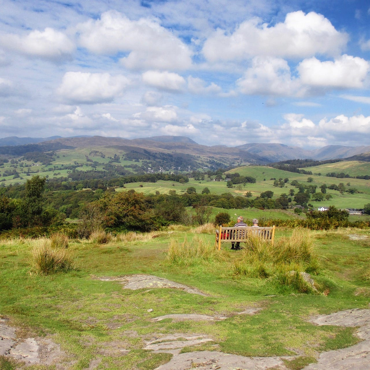 View from the summit of Orrest Head, Windermere, Cumbria, looking eastward. Photo by Antiquary, licensed CC-BY-SA-4.0.