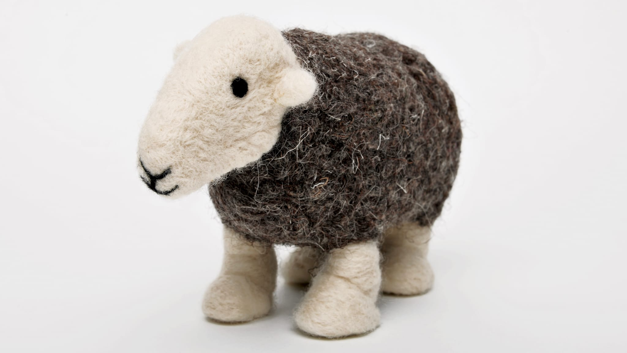 Wool's scaly microtexture allows it to be felted together