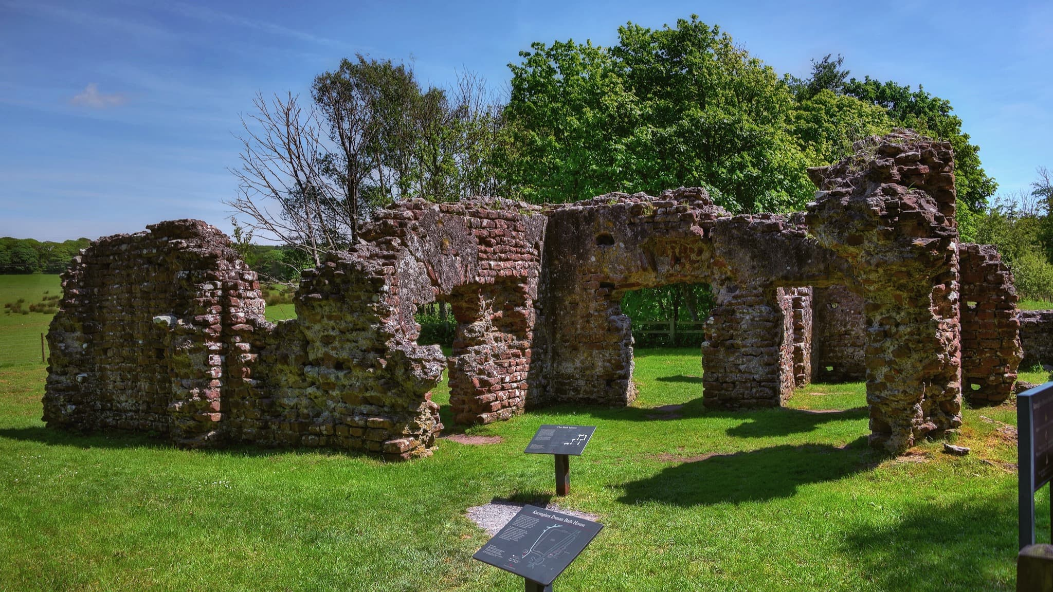 The Roman Bath House at Ravenglass, once the home of the Roman fort Glannoventa on the Cumbrian Coast. Photo by August Schwerdfeger, licensed CC-BY-4.0