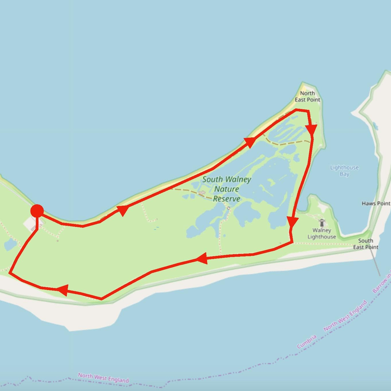 South Walney Nature Reserve route