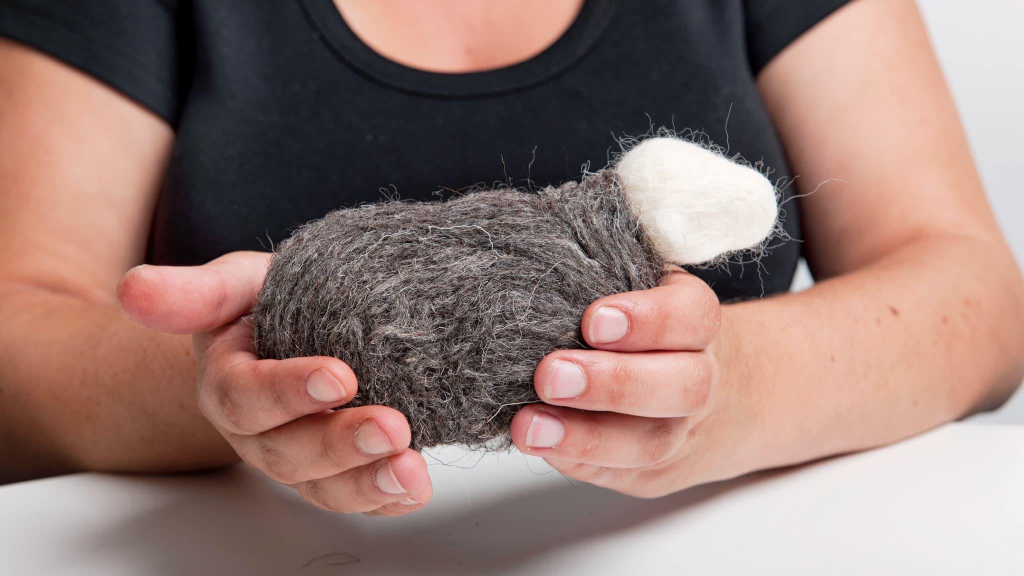 Our Herdy Felting Kit, with the body and head complete