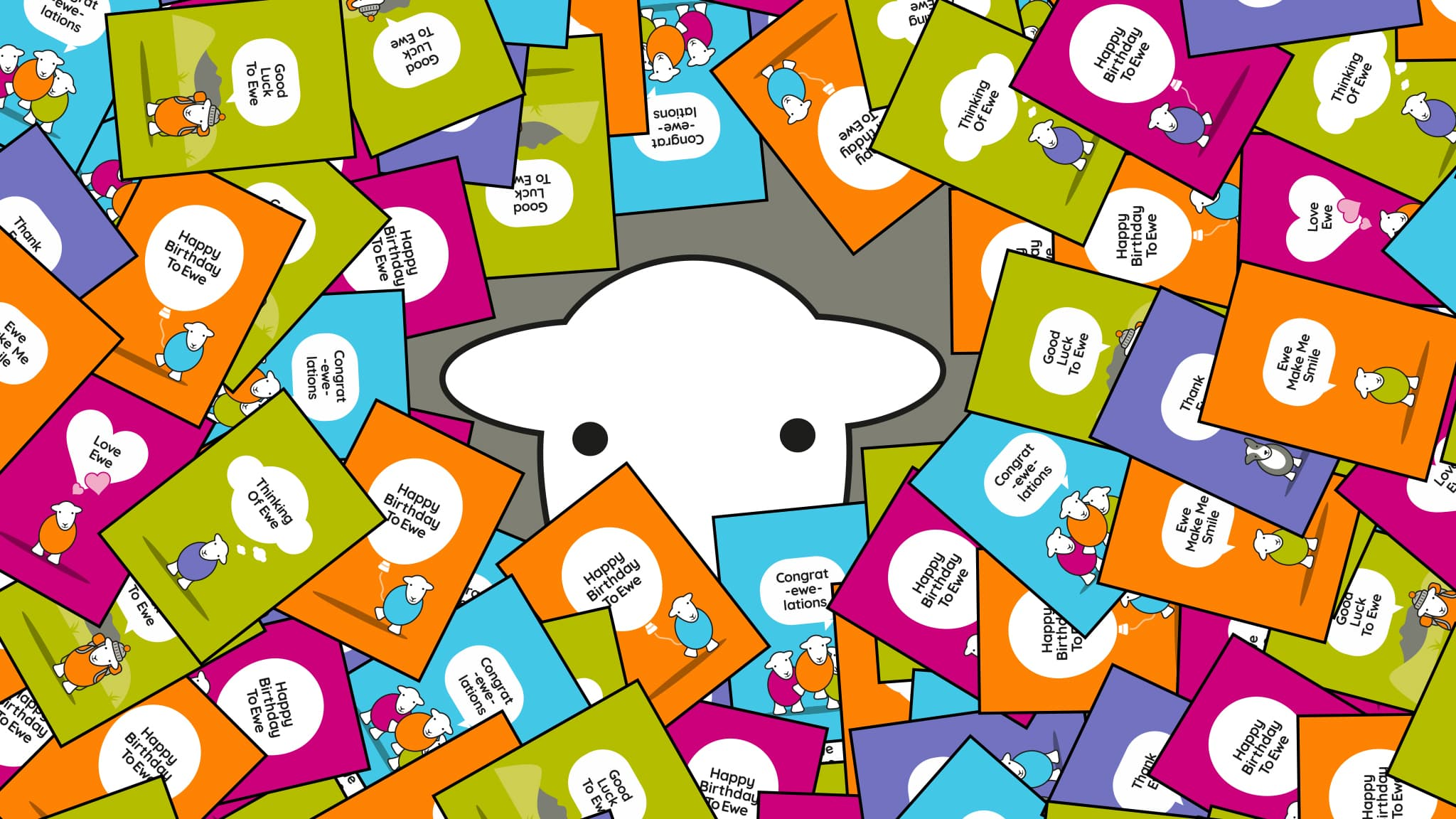 Herdy getting buried with cards