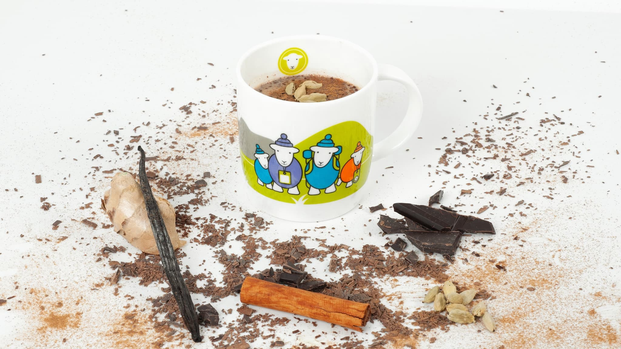 Arabic hot chocolate! The dark and rich chocolate flavour is enhanced with a variety of middle eastern spices