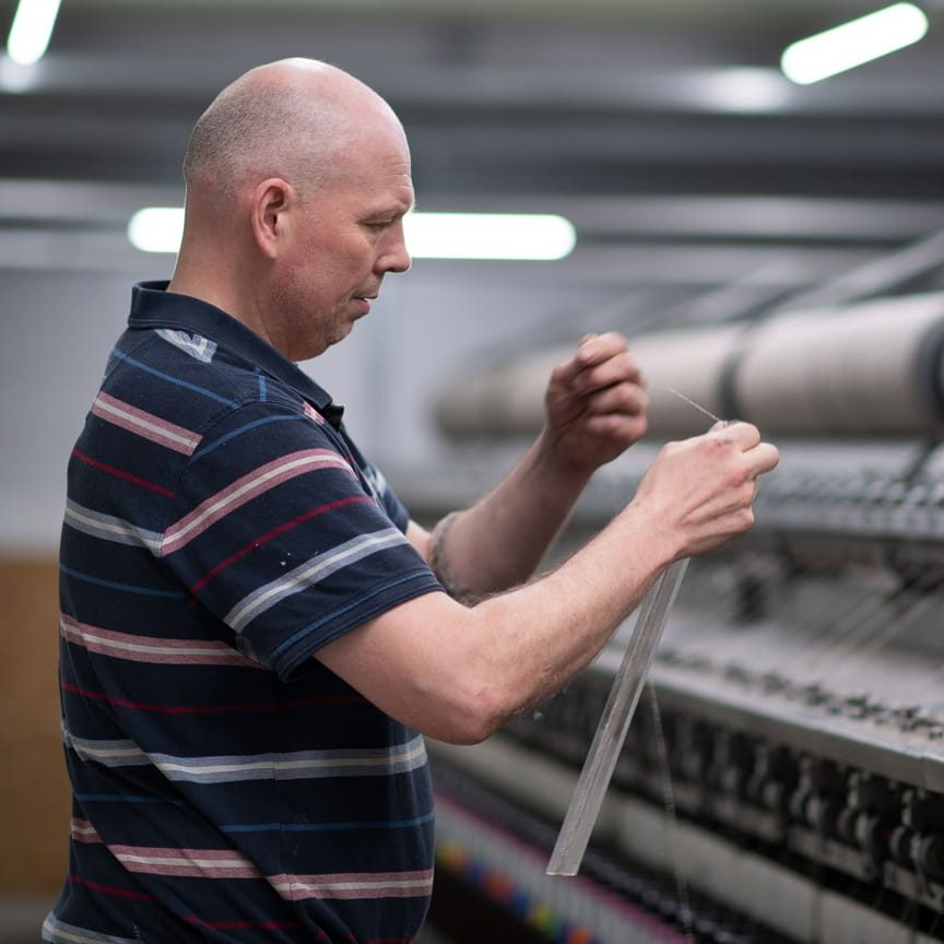 The integrity of the fibre is meticulously checked and tested