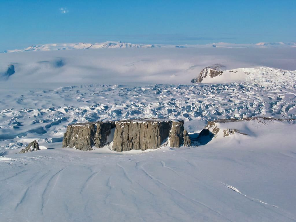 North face of Starr Nunatak, Antarctica. Photo by Stephen Bannister, licensed CC-by-SA-2.0