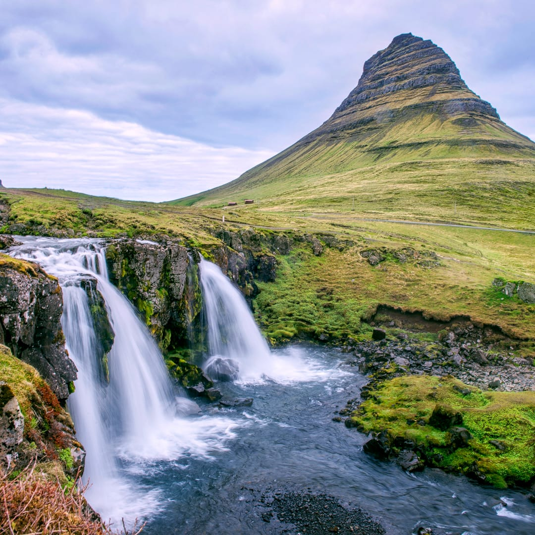 """One of the Iceland's most famous mountains, Kirkjufell (which means """"church mountain""""). Photo by Anjali Kiggal, licensed CC-by-SA-4.0."""