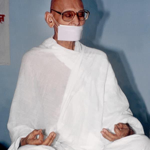 Jain monk Acharya Shri Mahapragya, photo by Amitjain80, licensed CC-by-SA-3.0