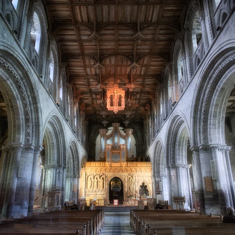 Inside St. David's Cathedral
