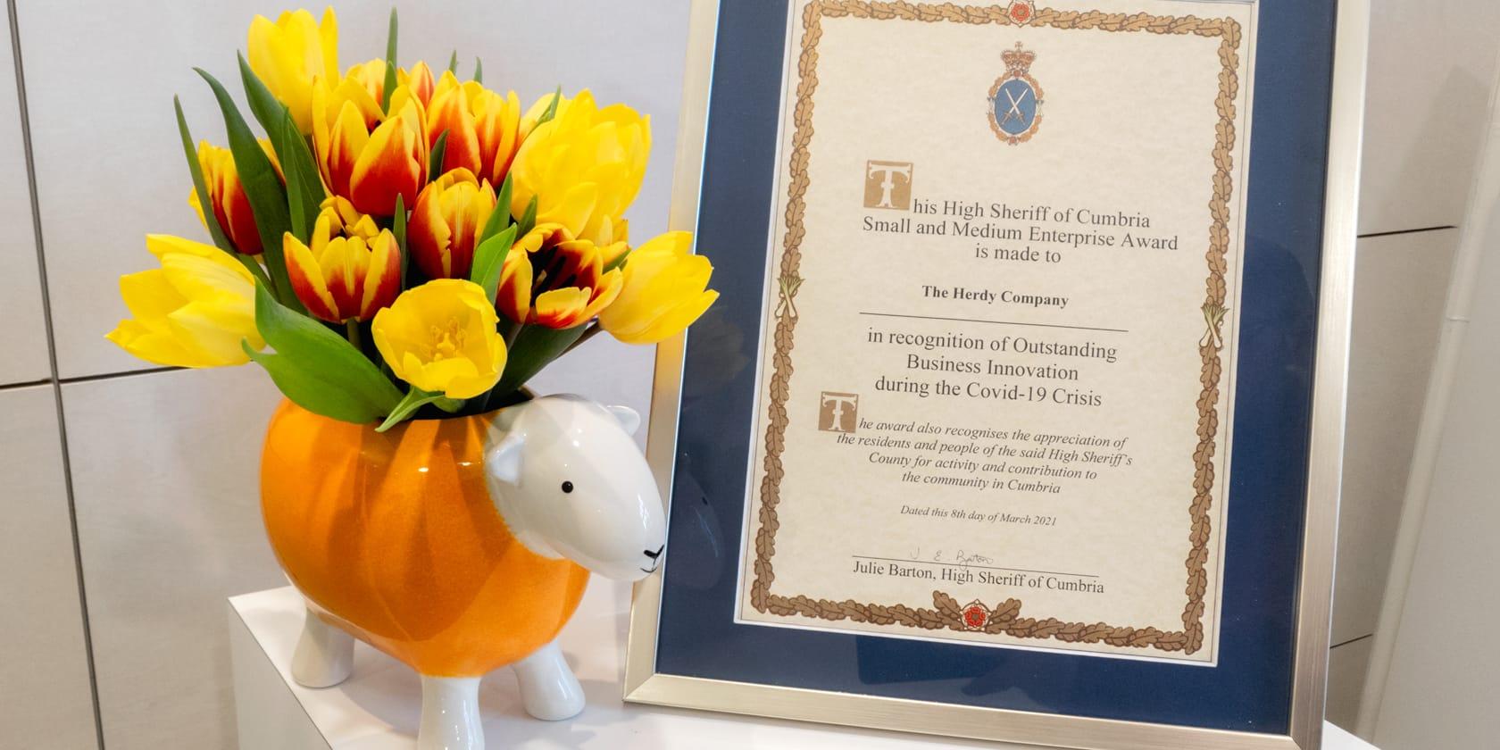 Herdy Wins High Sheriff of Cumbria's Small & Medium Enterprise Award