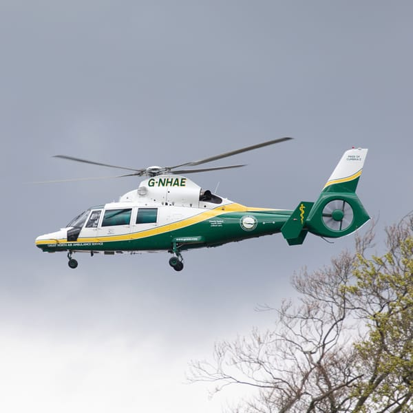 The new Pride of Cumbria II helicopter, now based at Langwathby