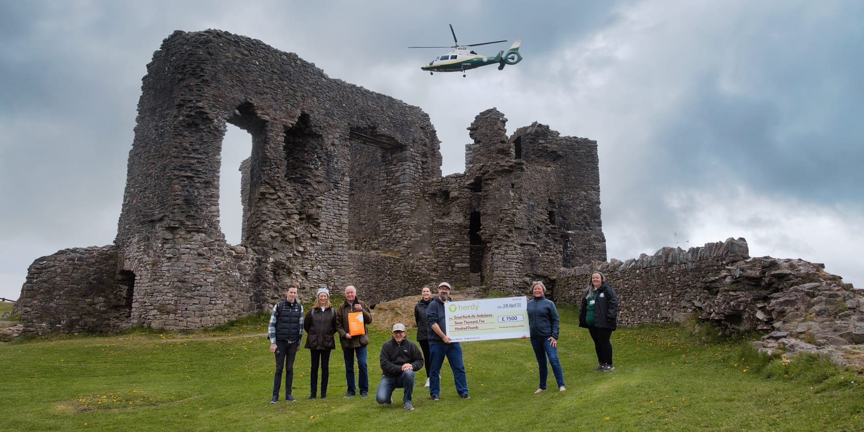 Herdy Donates £7500 to Great North Air Ambulance Service
